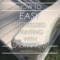 Distressed Painting: Spray Paint Edition